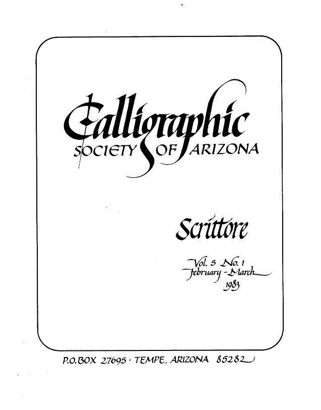 Scrittore Newsletters - Calligraphic Society of Arizona